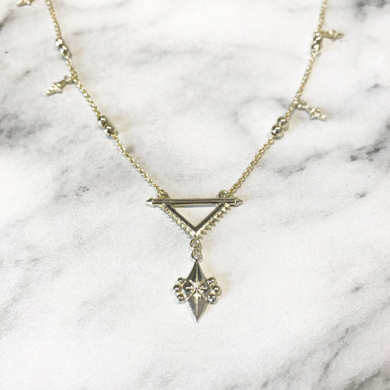 'SUPERNOVA' Necklace in Goud