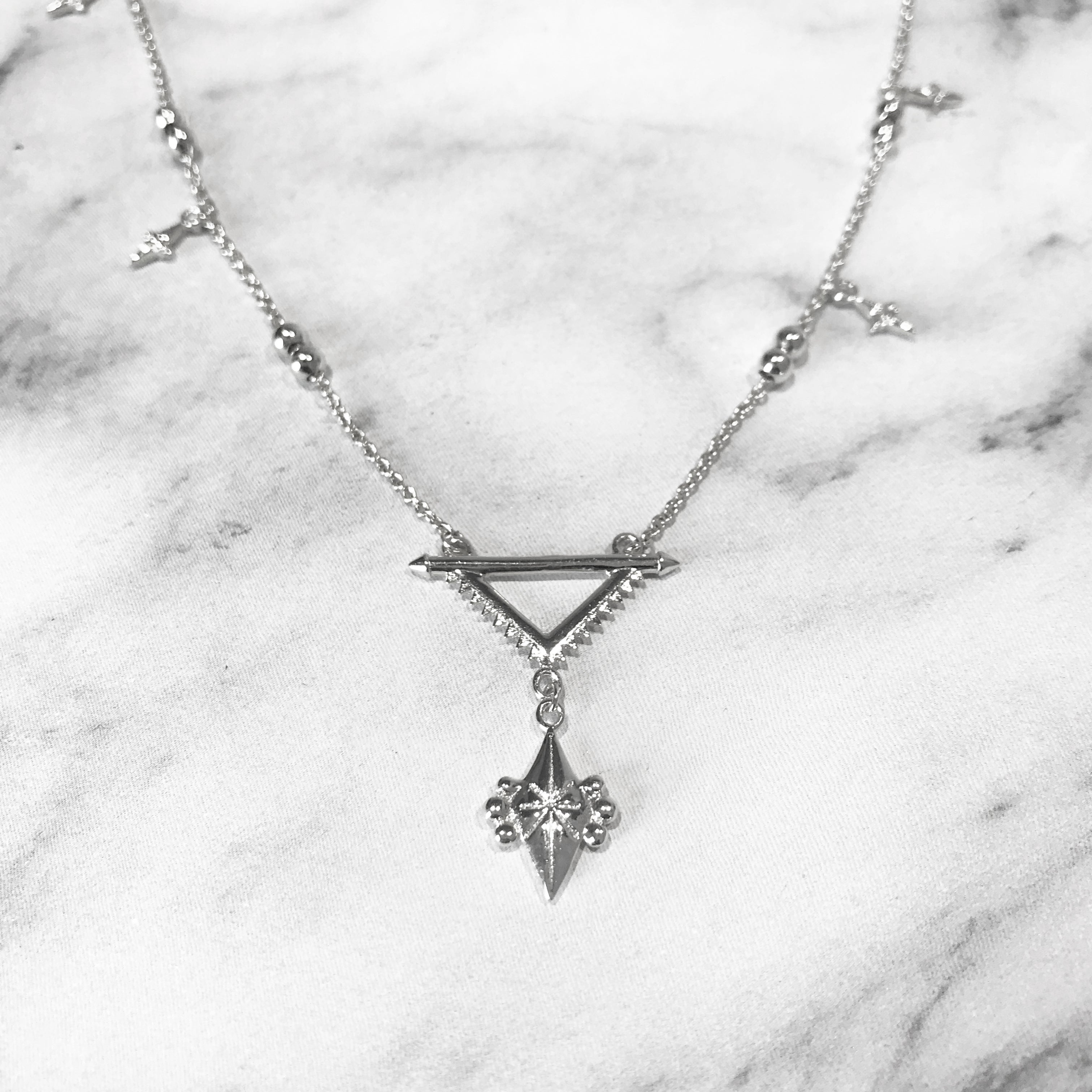 'SUPERNOVA' Necklace in Silver
