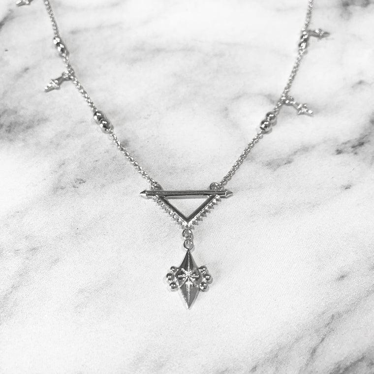'SUPERNOVA' Necklace in Zilver