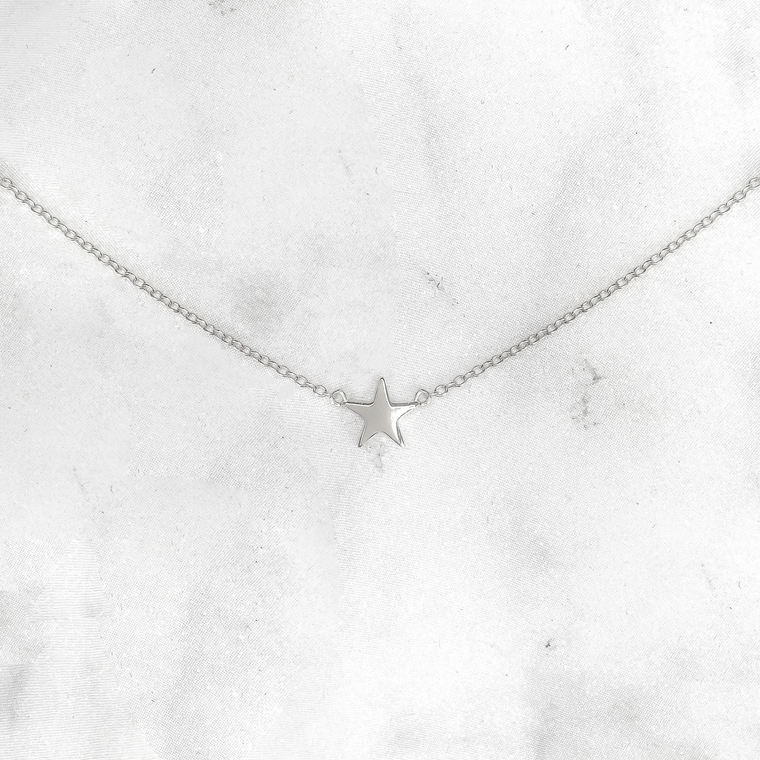 'TWINKLE STAR' Choker Necklace in Zilver