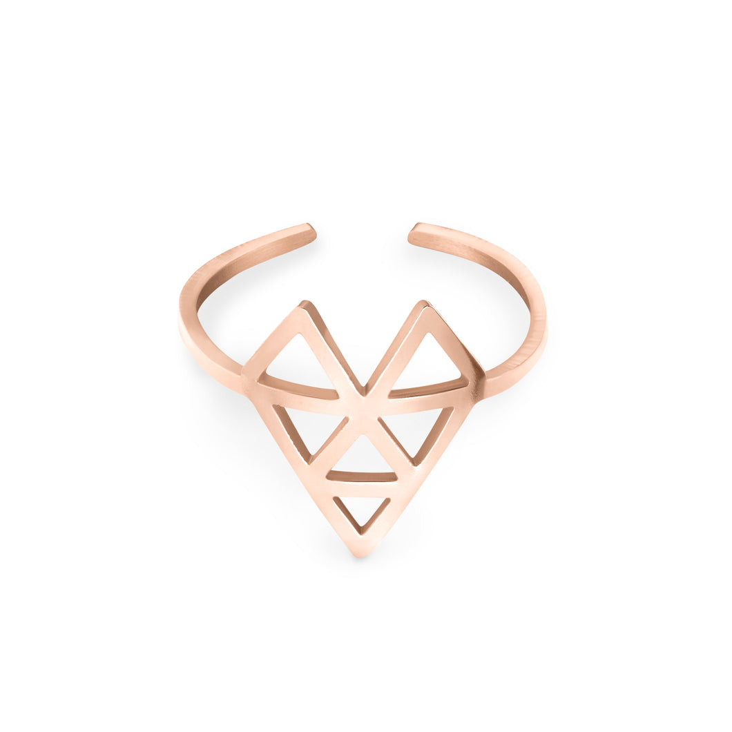 AMOTI ISSUE RING Rose Gold