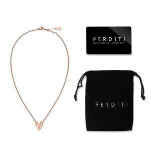 AMOTI ISSUE NECKLACE Rose Gold