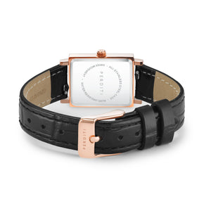 STRAP Crocodile Black Rose Gold