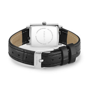 STRAP Crocodile Black Silver