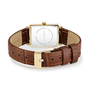 STRAP Crocodile Brown Gold