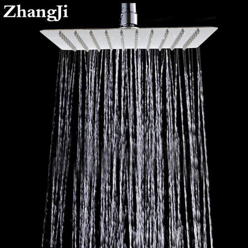 10 inch Square Stainless Steel- Ultra Thin Shower Head - HomeWareBargains