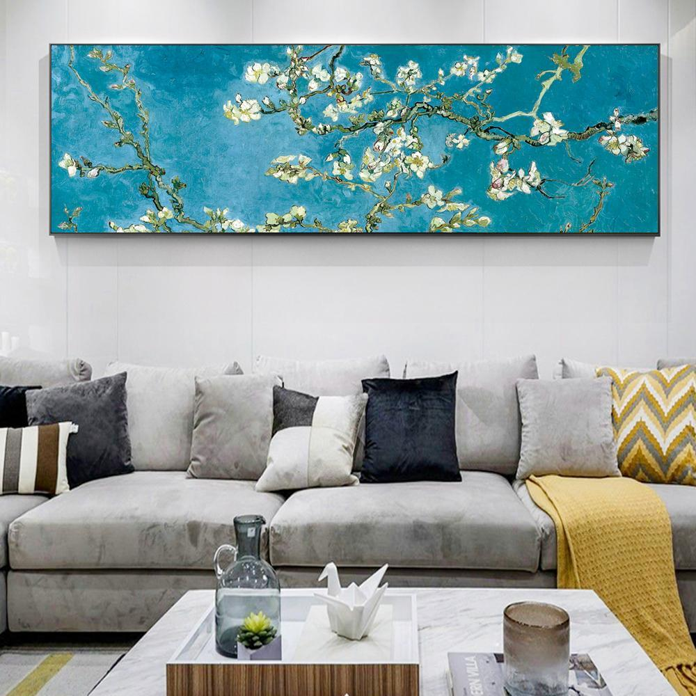 Almond Blossom Flowers Paintings Reproduction of Van Gogh - Print on Canvas - HomeWareBargains