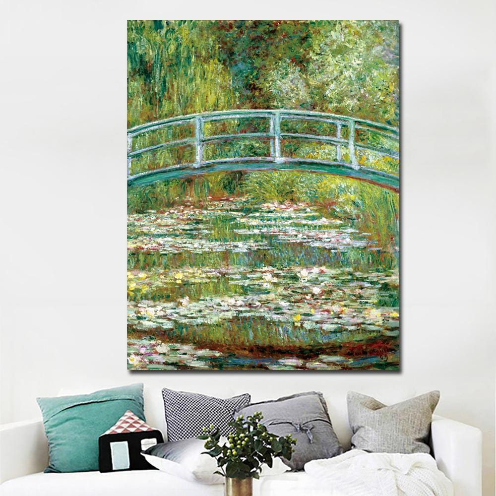 Claude Monet Water Lilies Reproduction Printed on Canvas - HomeWareBargains