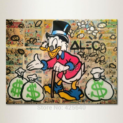 Graffiti Pop Art. Capitalism. Print on Canvas - HomeWareBargains