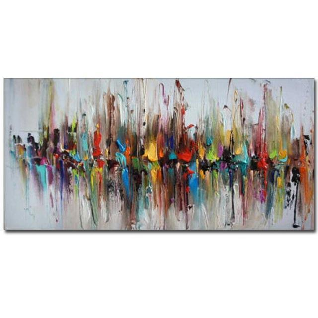 Hand Painted Abstract Designed Oil Paintings On Canvas. - HomeWareBargains
