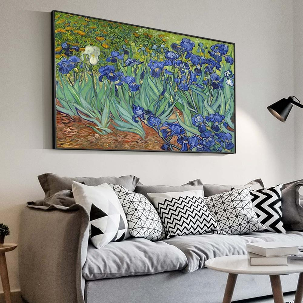 Irises Flowers - Van Gogh Reproduction Print on Canvas - HomeWareBargains