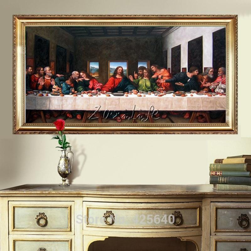 Jesus Christ The Last Supper II Art Decor Painting Oil Print On Canvas - HomeWareBargains