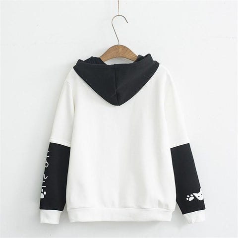 Harajuku Hoody - Sweet Girl with Long Sleeve Thick Warm Pullover - HomeWareBargains