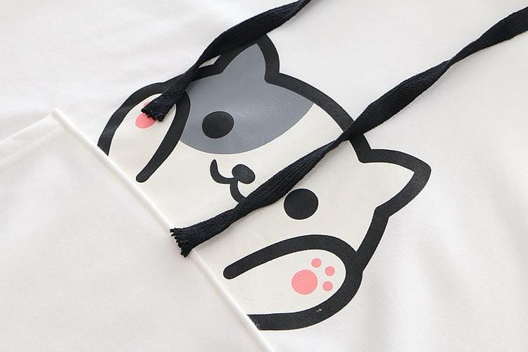 Cartoon Cat Print Harajuku Hoody - HomeWareBargains