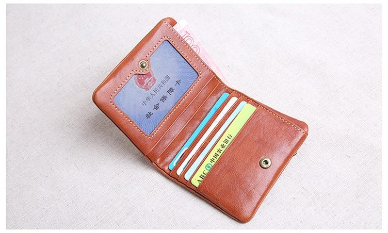 HandMade Mini Purse for Men and Women - Genuine Leather and Ultra-thin Soft Leather wallet