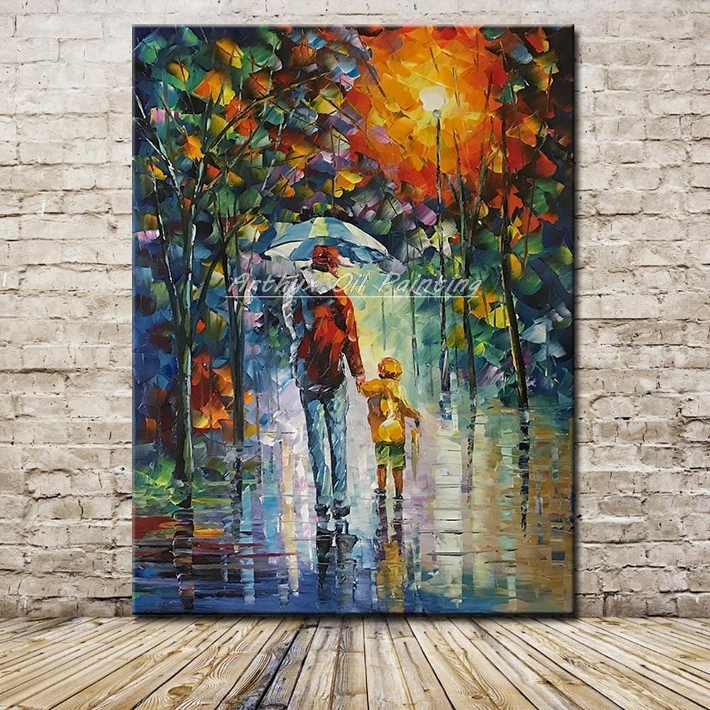 Large Size Hand Painted with a Palette Knife - Oil Paintings On Canvas