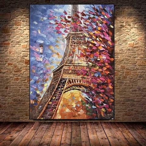 Large Size Hand Painted with a Palette Knife - Oil Paintings On Canvas - HomeWareBargains