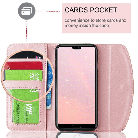 Luxury Flip Wallet Case For Huawei P30 Lite P20 Pro P9 Lite 2016 P Smart 2019 Phone Bag PU Leather Cover 360 Capa Coque