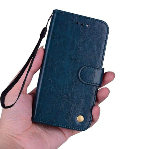 Flip Leather Case For Samsung with Wallet and kickstand - HomeWareBargains