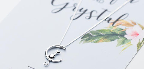 925 Sterling Silver Long Cat Moon Necklaces For Women - HomeWareBargains