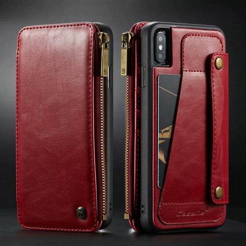 Luxury Purse Wristlet with Rustic PU Leather Phone case For Iphone 11 pro max Ix Xr Xs Max 6 6s 7 8 Plus Se