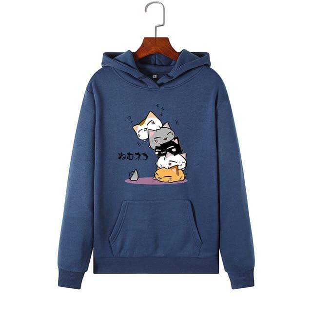 Kawaii Cat Hoody - Plus Size - HomeWareBargains