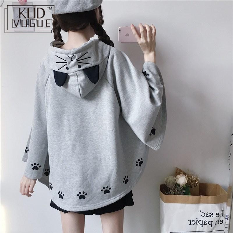 Hoody for Girls - poncho style - Harajuku - HomeWareBargains