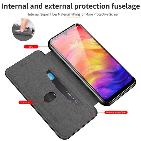 Leather flip case For Samsung with Kickstand - HomeWareBargains