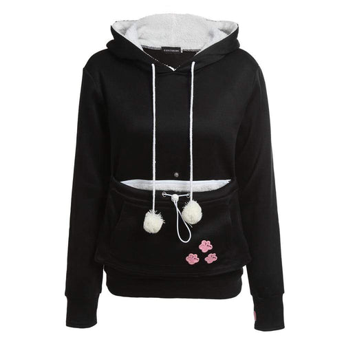 Cat Lovers Hoody With Cuddle Pouch - HomeWareBargains