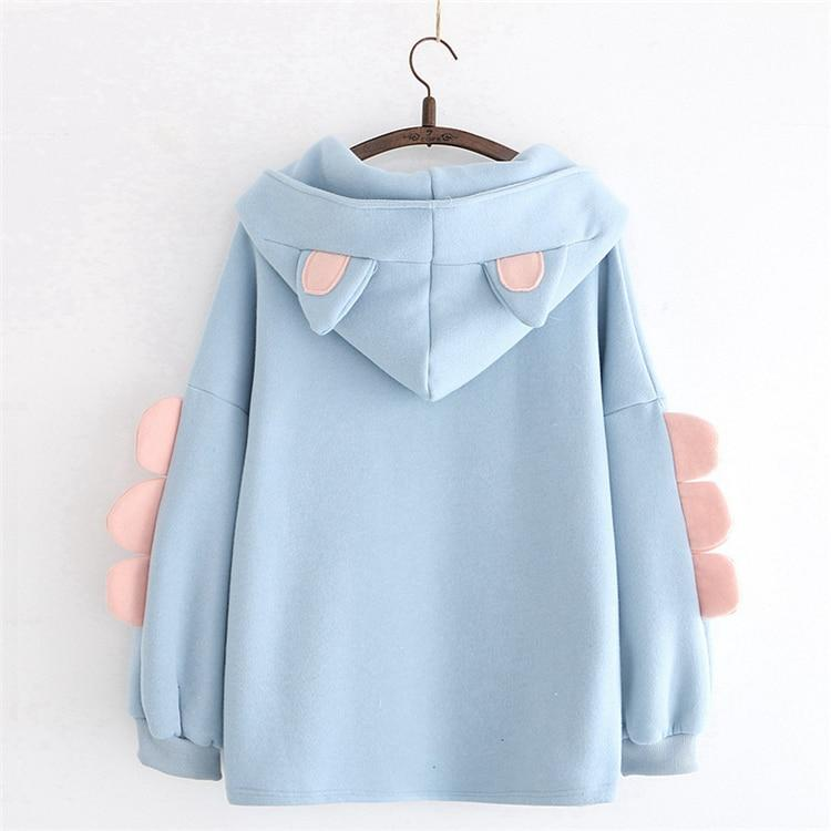 Cute Harajuku Fleece Hoody with Cat Ears and Awesomeness - HomeWareBargains