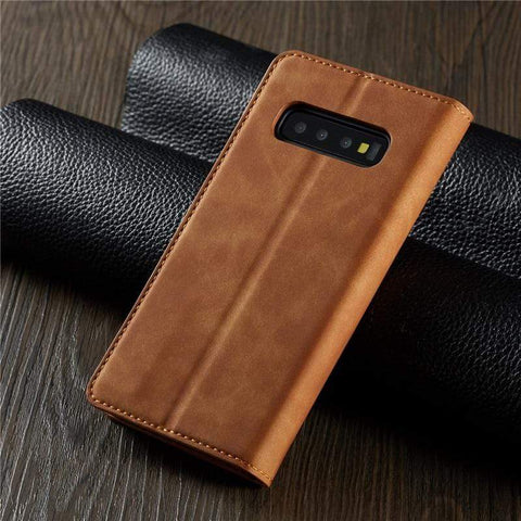 Leather Flip Case or Cover Wallet For Samsung with Magnet and Kickstand - HomeWareBargains