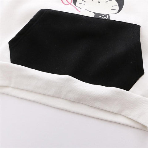 Velvet Hooded Sweatshirt for Women - Thick Cat Hoody With Large Warm Pocket - HomeWareBargains