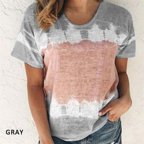 Tie-dye T-shirt for Women with Short Sleeve - HomeWareBargains