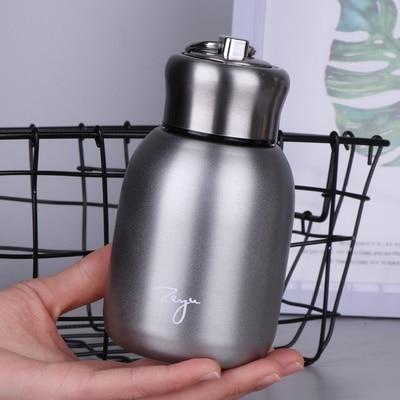 Portable 300ML Vacuum Flask with Filter - Stainless Steel Thermal Mug Coffee - HomeWareBargains