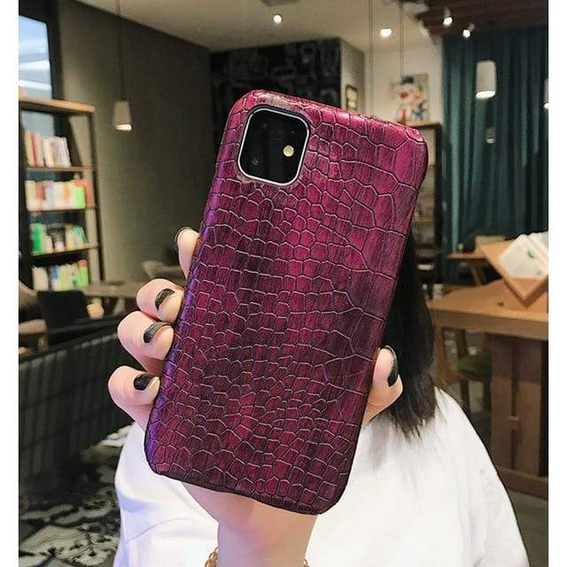 Wrist Strap Case or Cover For iPhone - Leather Hard Back Cover - HomeWareBargains