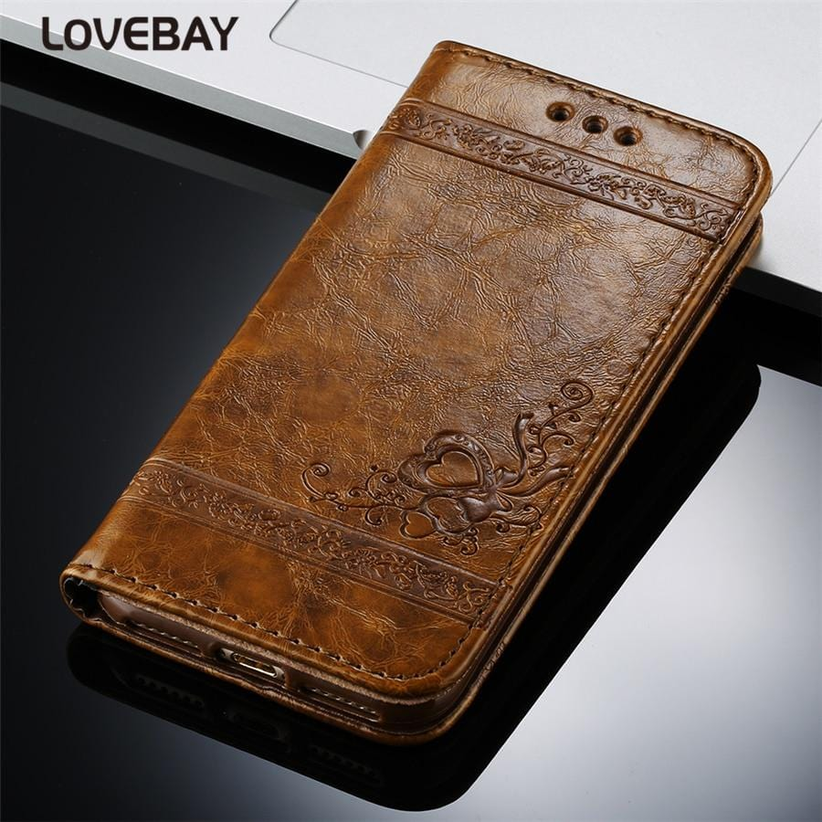 Premium Vintage Leather Flip Phone Case For iPhone X 11 6 6S 7 8 Plus For iPhone X XR 11Pro XS Max Retro Card Slot Phone Case Full Cover
