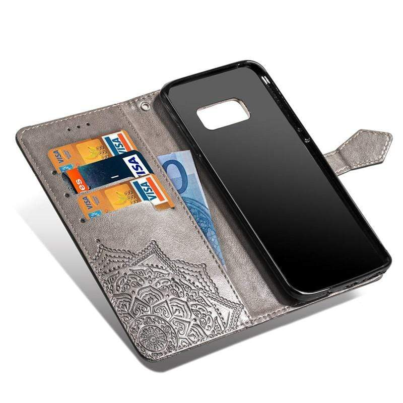 Leather Case For Samsung Galaxy with Wallet and Kcikstand - HomeWareBargains