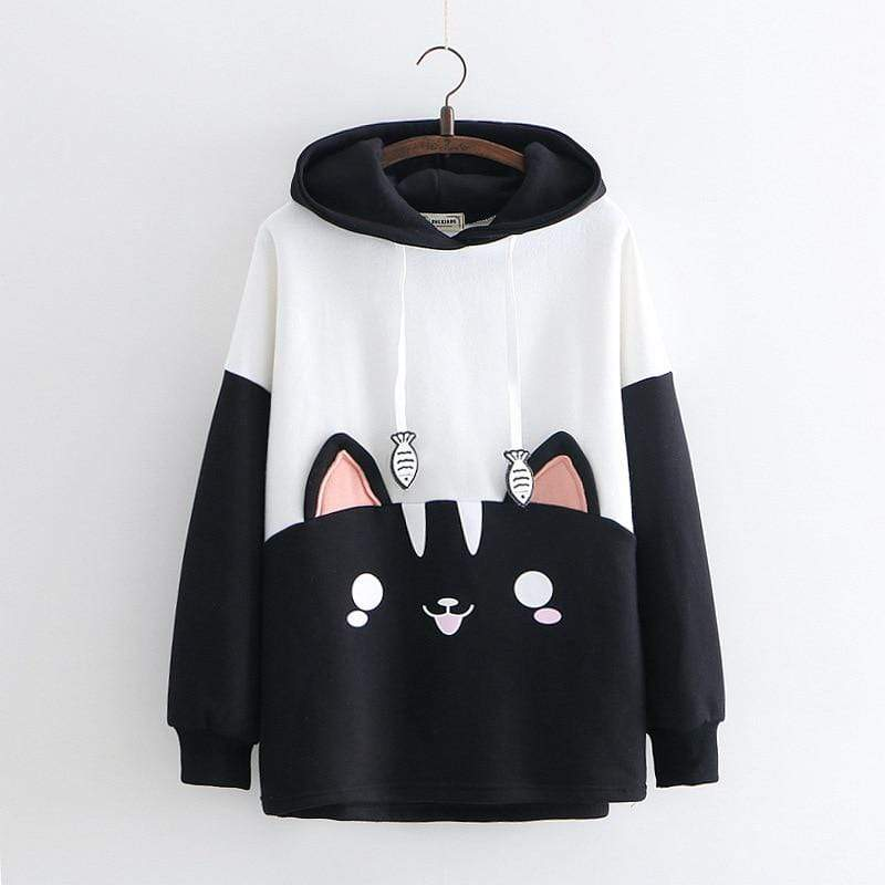 Japanese Harajuku Clothes for Women - Cute Pullover Sweatshirt Hoody - HomeWareBargains