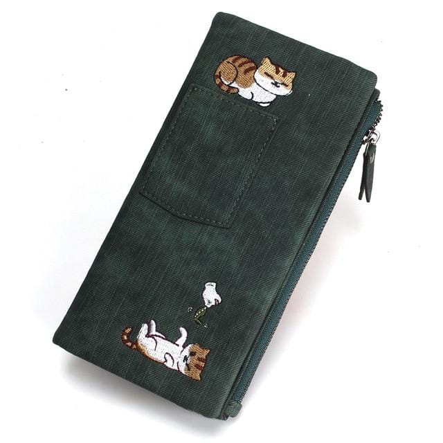 Cute Cat Wallet with Long Zipper - HomeWareBargains