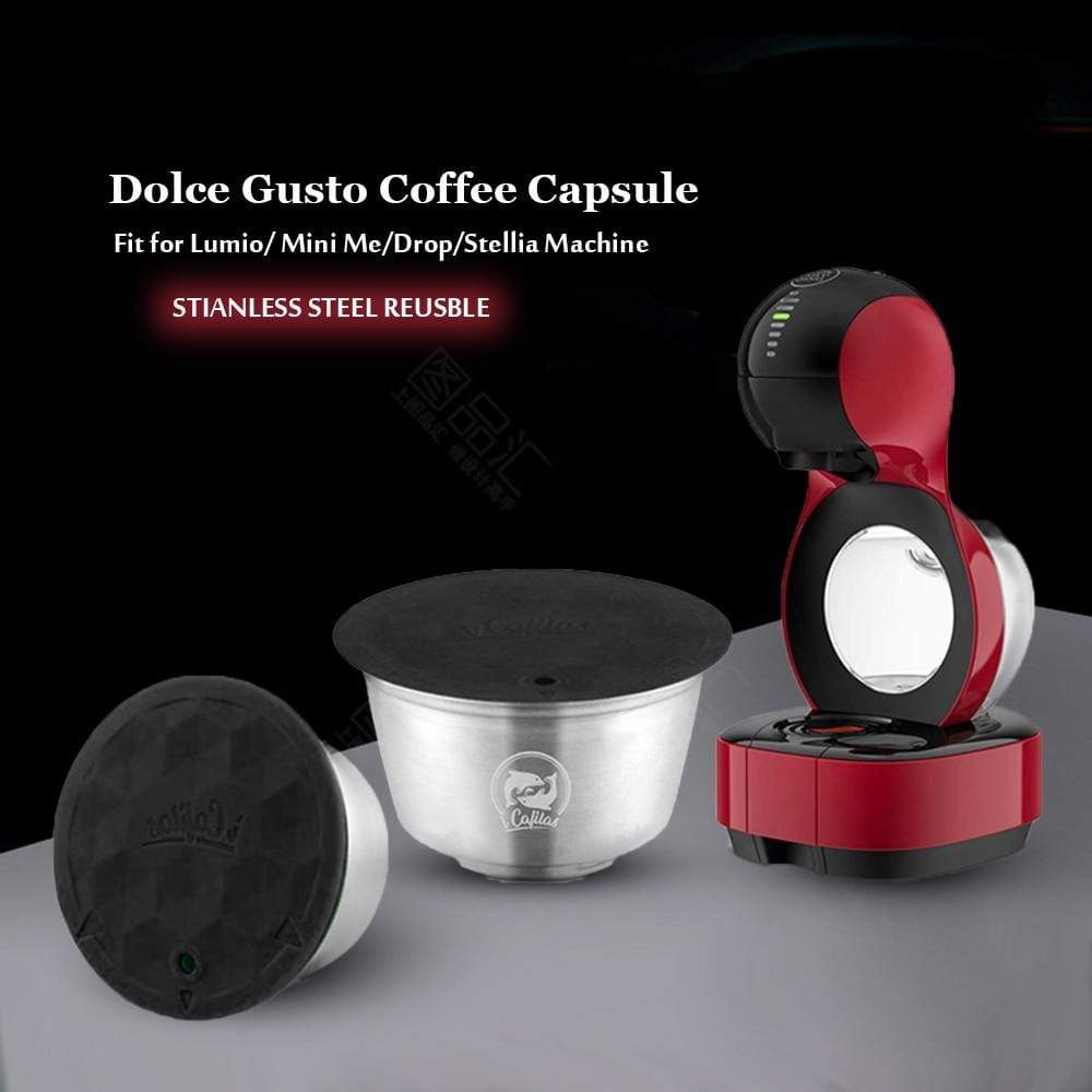 Stainless Steel Reusable For Dolce Gusto Capsule Refillable Coffee For Lumio Machine - HomeWareBargains
