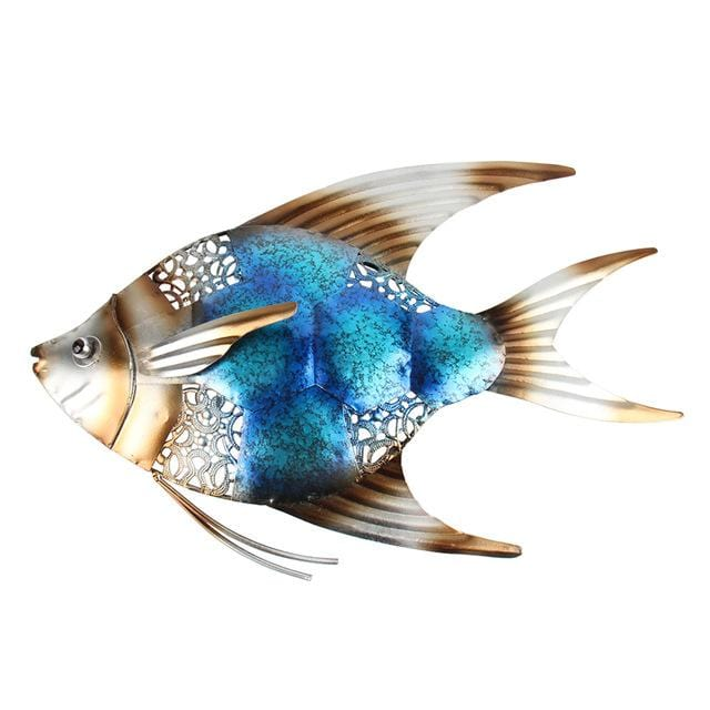 Metal Fish Wall Decor for Garden Ornaments - HomeWareBargains