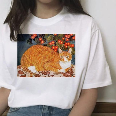 Funny Cat Shirt - Michelangelo - HomeWareBargains