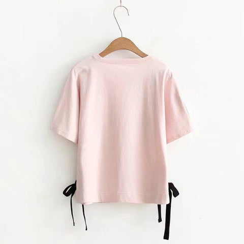 Harajuku Pink t shirt for Women with a Fox - HomeWareBargains