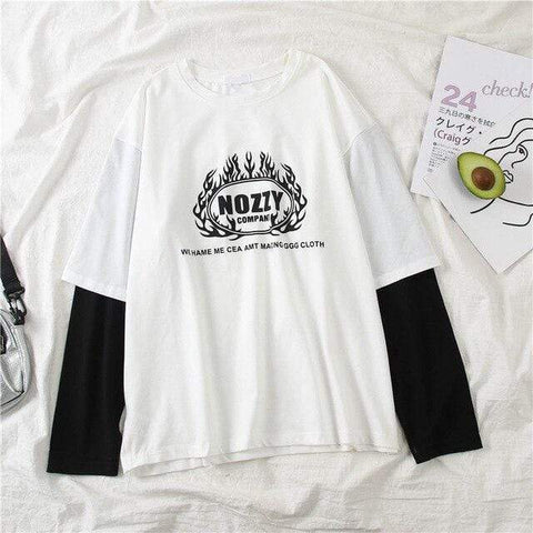Harajuku long Sleeve T shirt for Women Hip-hop streetwear - HomeWareBargains