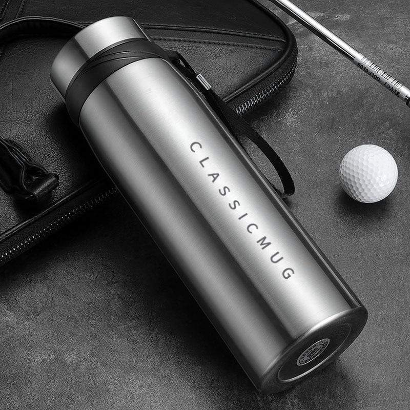 1500m/1100ml/650ml Portable Double Stainless Steel Vacuum Flask - Travel Mug with Large Capacity - HomeWareBargains