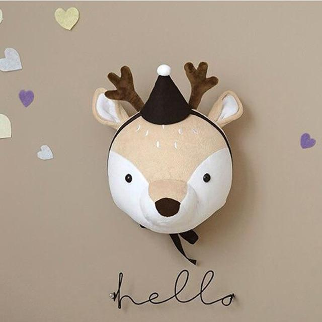 Nordic Themed Wall Mount Stuffed Hangings for Children's Bedrooms