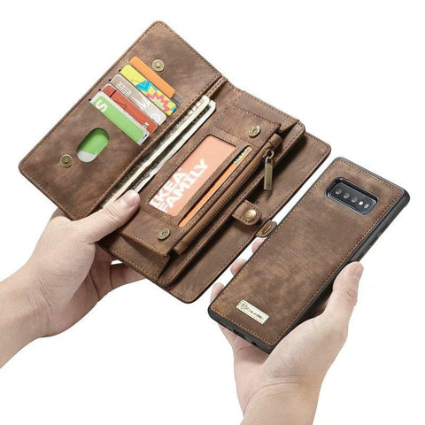 Purse with Wristlet Phone case For Samsung Galaxy  S20 plus Ultra S10 5G Plus S10e Luxury Leather Cover