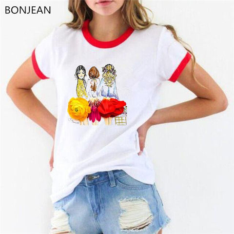 Vogue illustration t shirt for Women - HomeWareBargains