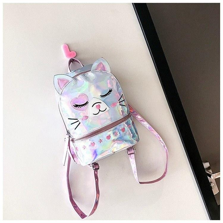 Cat Themed Kitty Backpack with Laser Pattern - HomeWareBargains