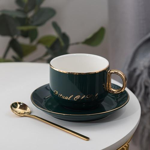 European Luxury Ceramic Coffee Cups and Saucers - HomeWareBargains